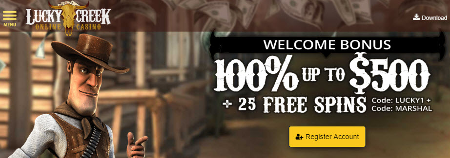 Lucky Creek Casino 25 Free Spins